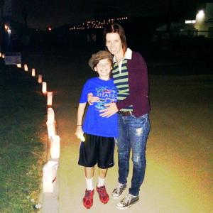 Me & First Boy during Luminaria at Relay for Life, South El Monte